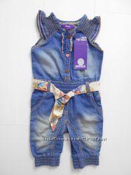 Стильный джинсовый комбинезон MEXX для девочек 9-12 мес.