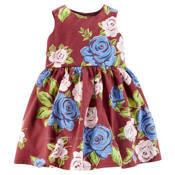 Carters Нарядное сатиновое платье с фатиновым подъюбником 18мес, 24мес