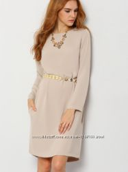 Модное платье цвета топленого молока
