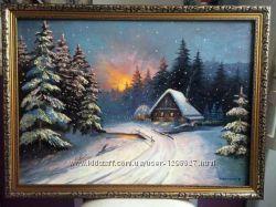 Продам картину Зимняя сказка масло, холст
