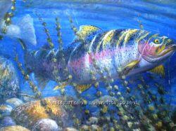 Картина написанная маслом Океаническая рыба