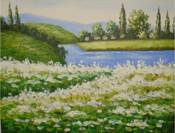 Картина написанная маслом Пейзаж