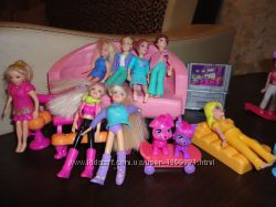 Дом Барби куколки мебель  одежда