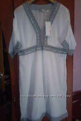 Белая туника-платье 100 котон, бренд Оneill.