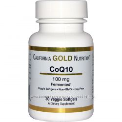 California Gold Nutrition, CoQ10, 100 мг, 30 штук