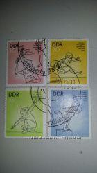 Почтовые марки V Kinder - und Jugendsportakiade der DDR, 1975