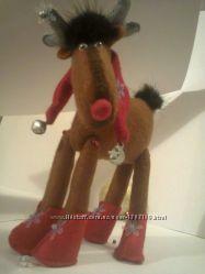 Новогодний лось из фетра и норки отдам в дар при покупке одного из товара