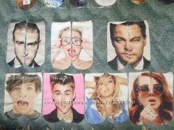 Носки с 3D принтом Леонардо Дикаприо и другие знаменитости