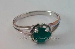 Красивое кольцо зеленый оникс серебро 925 пробы