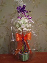 Сладкие подарки, букеты из конфет, топиарий