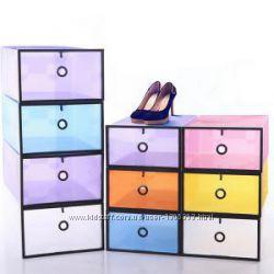 Пластиковый складной контейнер для обуви и мелочей