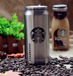 Банка Starbucks стальная