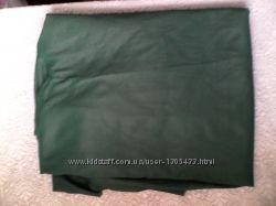 матеріал темно зелений шовк