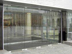 Стеклянные двери, перегородки, любые изделия из закалённого стекла