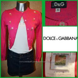 Оригинал голограмма милый розовый хлопковый кардиган d&g xs-s zara