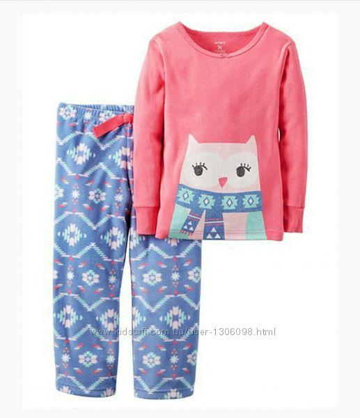 Пижама,  размер 4 Т,  для девочек,  пижамка,   Carter&acutes.