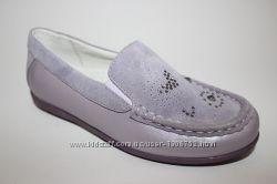 Кожаные туфли мокасины Фламинго Flamingo с супинатором рр 32-37