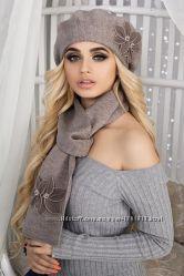 Комплект Лилии берет и шарф