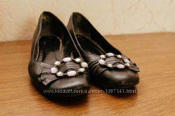 Туфли балетки с камнями