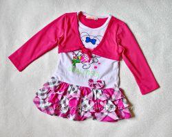 Платье с болеро, туника на 2-3 года, трикотаж, красивое, нарядное