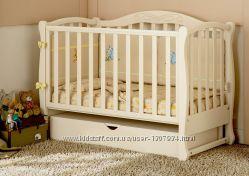 Кроватка для новорожденных из натурального дерева Prestige 5