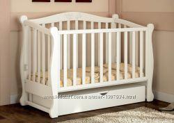 Кроватка для новорожденных из натурального дерева Prestige 8