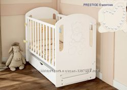 Кроватка для новорожденных из натурального дерева Prestige 6