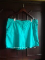хлопковые шорты бирюзового цвета 52 р-р