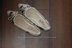 Кожаные балетки туфли braska