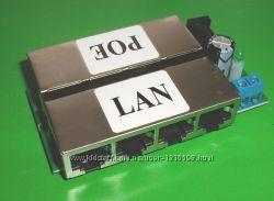 Инжектор PoE 4 портовый LAN Port Passive 10-100BASE-TX