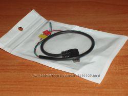 адаптер micro USB to AV для камеры SJ4000 кабель вывода изображения AV-mic