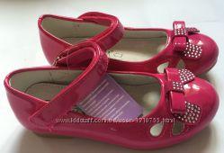 Туфли для девочки малиновые с бантиком
