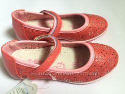 Туфли для девочки корал