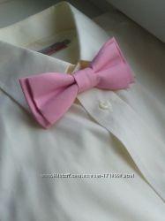 Галстук бабочка розовая