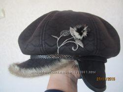 Зимняя шапка с картузом