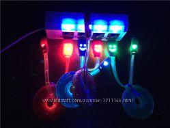 Кабель USB  micro USB светодиодный