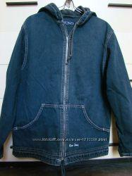 Куртка-парка джинсовая с капюшоном подростковая
