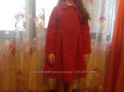 Пальто для девочки теплое