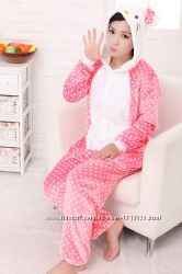 Кигуруми-или маскарадный костюм, пижама Китти, Кот, Кошка, Чеширский кот