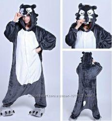 Кигуруми- или маскарадный костюм, пижама Волк, Морковка, Горох, Клевер