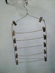 Хромированные металлические вешалки с прищепками. Доставка по Киеву от 10шт
