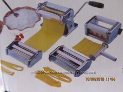 Лапшерезка, тестораскатка и насадка для равиоли Royalty line.