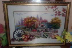 Вышитая картина бисером Времена года - осень.