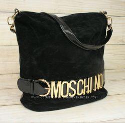 Замшевая сумочка MOSCHINO москино замшэкокожа 3 цвета