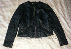 Куртка деми стильная стеганая черная р. 48 евро 14
