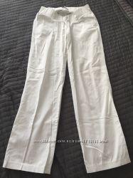 Белые беременные брюки