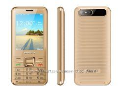 Мобильный Телефон 4 сим карты Servo V8100 русская клавиатурачехол в подаро