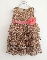 Стильное платье для девочки на 3-4 года