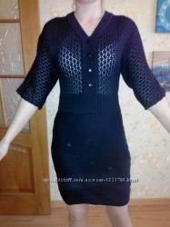 Черное вязаное платье от bonprix