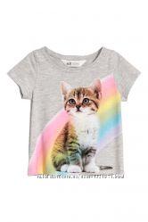 Красива футболка фірма H&M. Розмір 1, 5-2, 2-4, 4-6 років